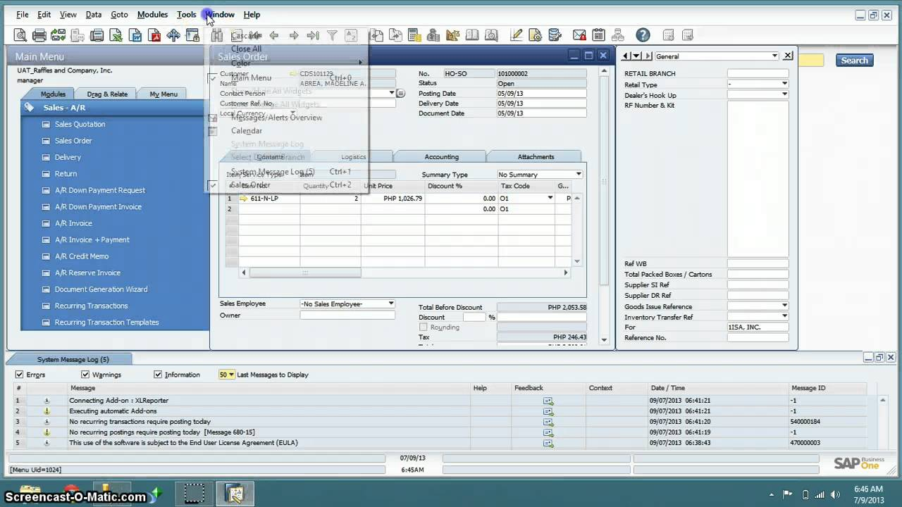 Sap Business One Erp System Small Management Business